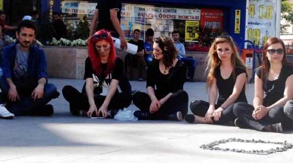 Akşehir'de, Soma'ya Destek Eylemi