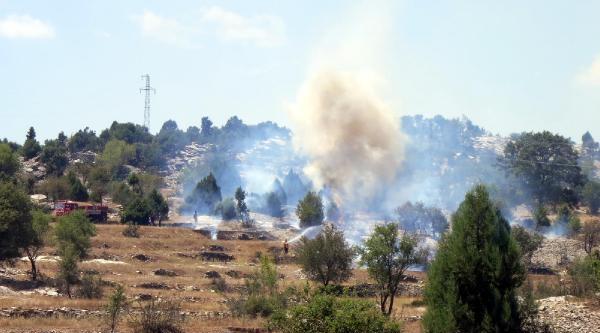 Akseki'de Makilik Yangını