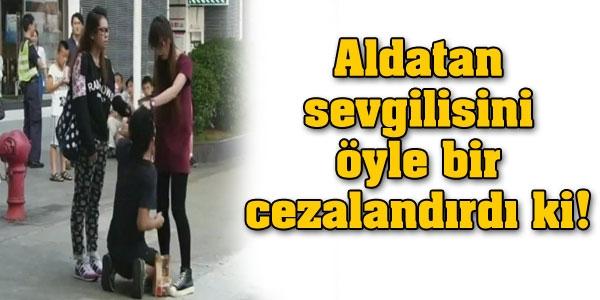 Aldatan sevgilisini öyle bir cezalandırdı ki!