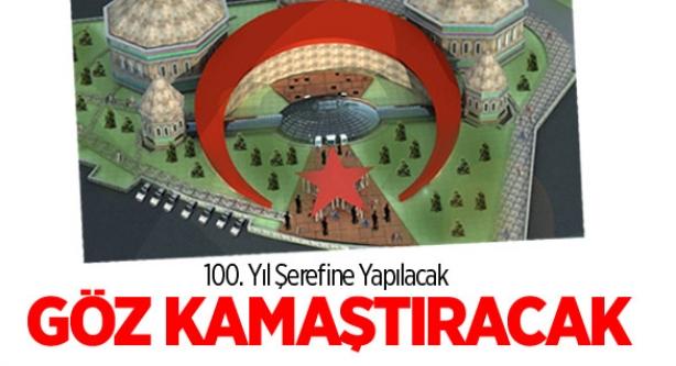 Türk Bayraklı Dev bina