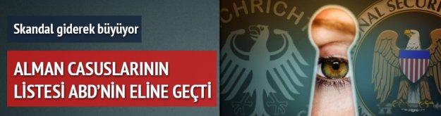 Alman ajanlarının listesi ABD'nin elinde