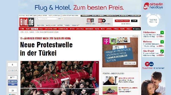 Alman Basını: Berkin'in Ölümü Türkiye'de Yeni Bir Protesto Dalgası Başlattı