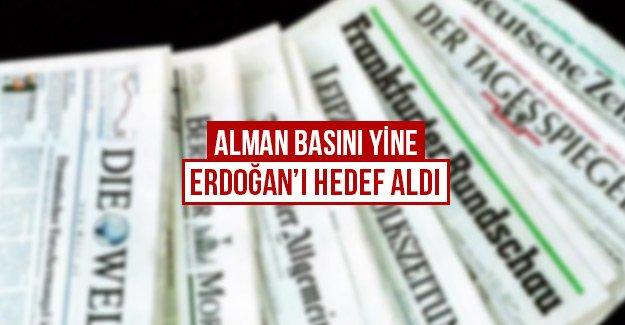 Alman Basını yine Erdoğan'ı hedef aldı