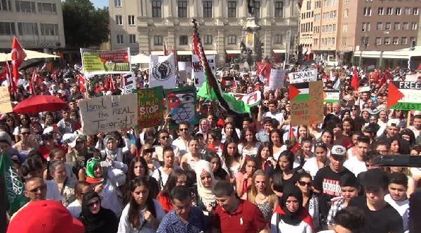 Almanya'da İsrail Protestosu