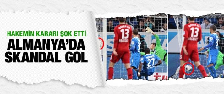 Almanya'da skandal gol