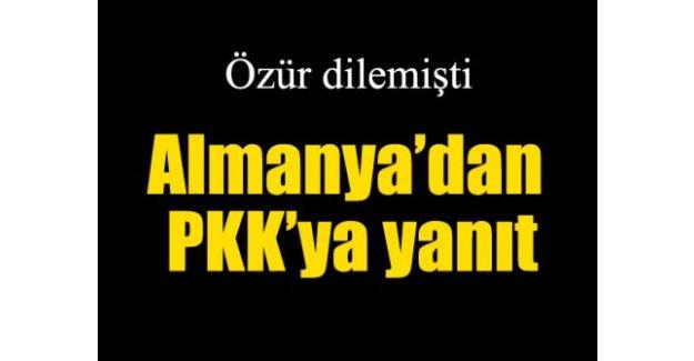 Almanya'dan PKK'ya yanıt!