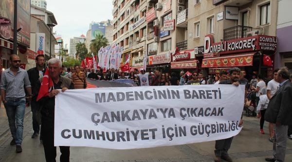 Alternatif 19 Mayıs Kutlamasında Soma Protestosu