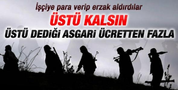 Amanoslar'da PKK'lılar işçiye erzak aldırdı