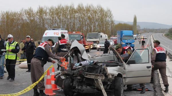 Amasya'da Kaza:1 Ölü, 3 Yaralı