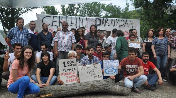 Amasya'da 'yeşil Nöbeti' 3'üncü Gününde