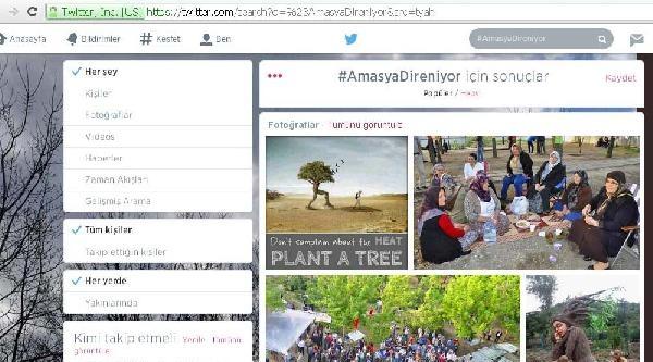 Amasyalılar 'yeşil Nöbet' İçin Sosyal Medyada Örgütlendi