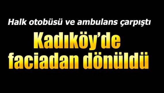 Ambulans özel halk otobüsü ile çarpıştı: 7 yaralı