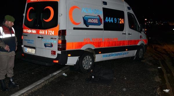 Ambulansin Çarptiği Yaya Öldü
