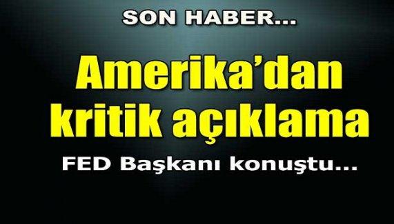 Amerika'dan kritik açıklama!