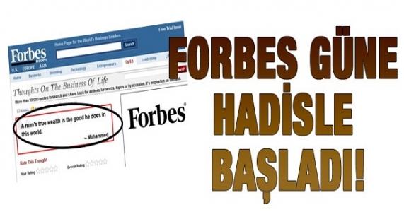 Amerikan Forbes dergisi hadis yayınladı!