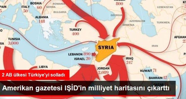 Amerikan Gazetesi IŞİD'in Milliyet Haritasını Çıkarttı