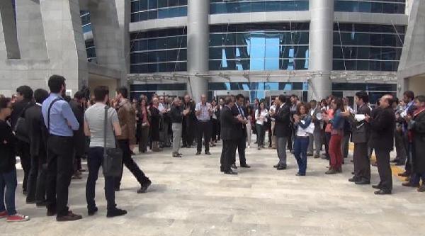 Anadolu Adalet Sarayı Önünde Soma Protestosu