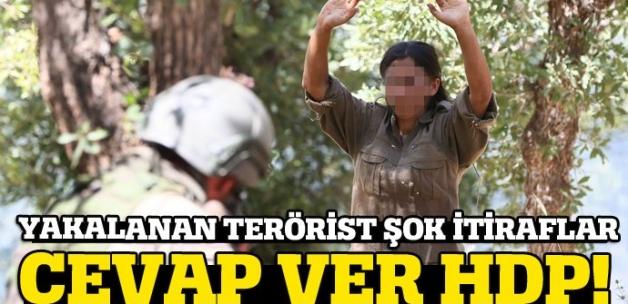 Kadın terörist böyle teslim oldu!