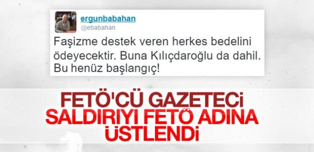 FETÖ'cü Ergun Babahan'dan tehdit tweet'i