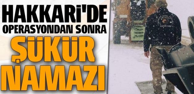 Mehmetçik, Hakkari'de operasyon sonrası şükür namazı kıldı
