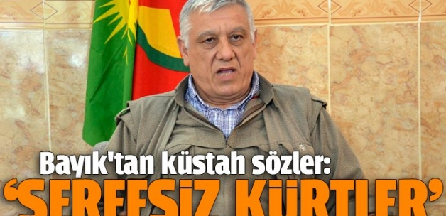 Terör örgütü elebaşı Bayık'tan küstah sözler: Şerefsiz Kürtler