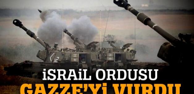 İsrail'den Gazze Şeridi'ne top atışı