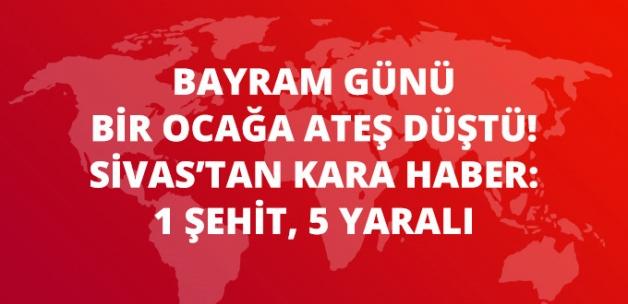 Sivas'ta Göreve Giden Askerlerin Bulunduğu Özel Araç Devrildi: 1 Şehit, 5 Yaralı