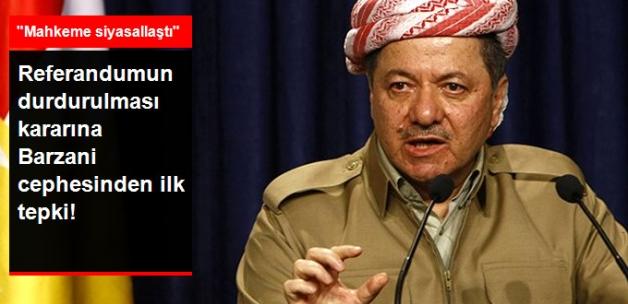 Irak Mahkemesi'nin Referandumu Durdurma Kararına Barzani'den Tepki: Mahkeme Siyasallaştı