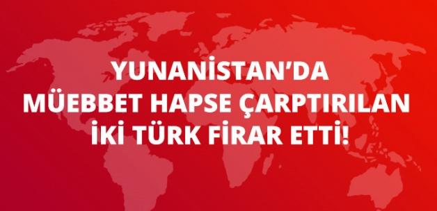 Yunanistan'da Müebbet Hapse Çarptırılan İki Türk, Cezaevinden Firar Etti