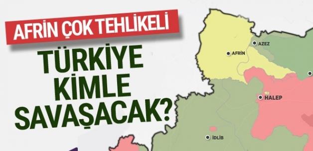 Afrin nerede haritasına bakın! Türkiye kiminle savaşacak?
