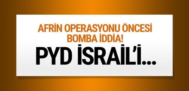 Bomba iddia! Terör örgütü PYD İsrail'i...