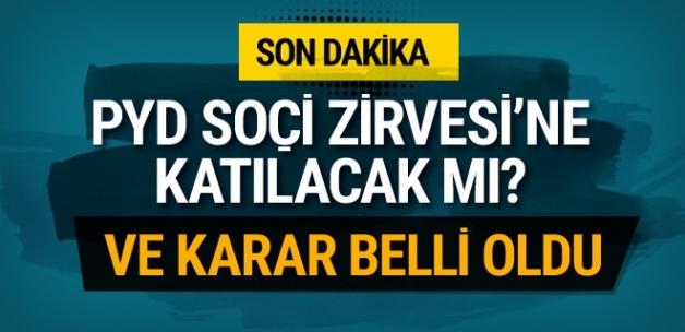 PYD Soçi Zirvesi'ne katılacak mı flaş karar