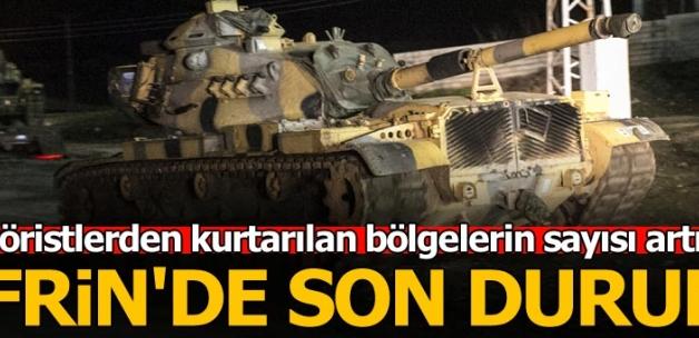 Son dakika... Türk askeri Afrin'de ilerliyor! Teröristlerden kurtarılan bölgeler...