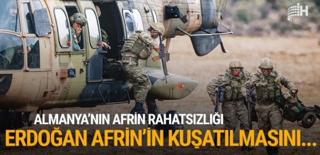 Almanya'da Afrin rahatsızlığı