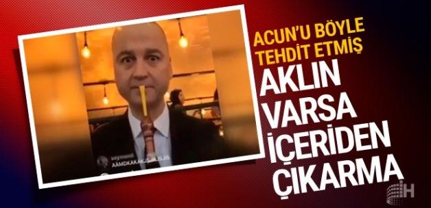 Masterchef Murat'tan Acun'a olay tehdit videosu!