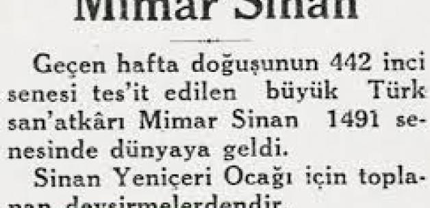 Mimar Sinan ın Kafatasını Mezarından Çıkardılar