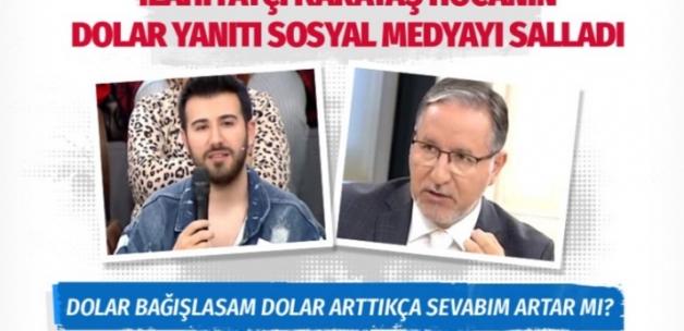 Mustafa Karataş'ın 'dolar' sorusuna verdiği cevap sosyal medyayı salladı!