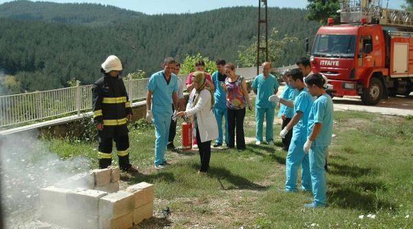 Andırın Devlet Hastanesi'nde Yangın Tatbikatı