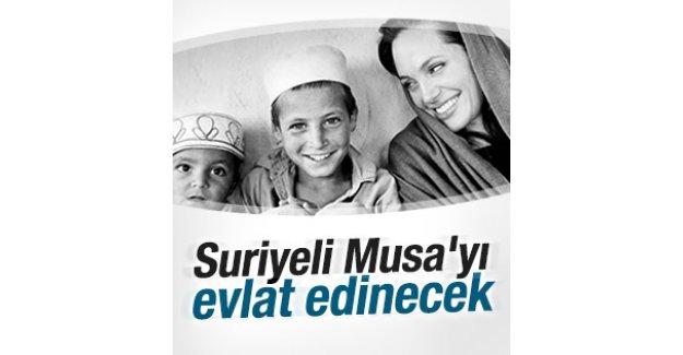 Angelina Jolie Suriyeli Musa'yı evlat edinecek