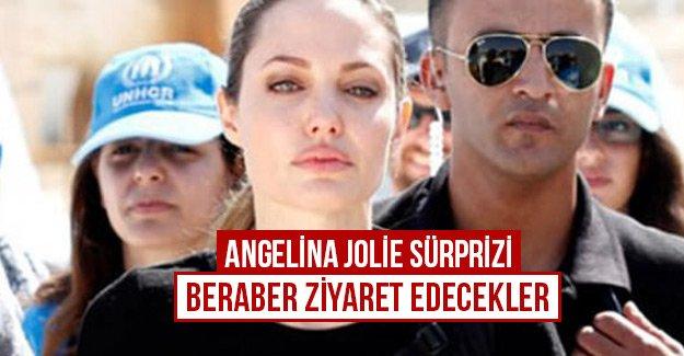 Angelina Jolie sürprizi beraber ziyaret edecekler