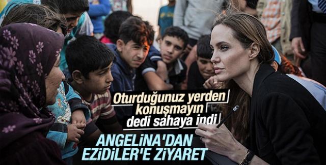 Angelina Jolie'den Ezidilere sürpriz ziyaret