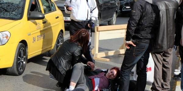 Aniden Fren Yapinca Motorsikletten Düştü