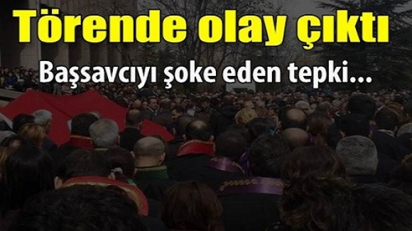 Ankara Adliyesi'ndeki törende olay çıktı!