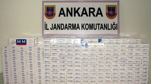 Ankara Jandarmasından Kaçak Sigara Operasyonu