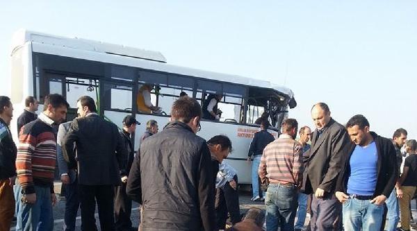 Ankara'da Halk Otobüsü Beton Mikseriyle Çarpişti: 25 Yaralı