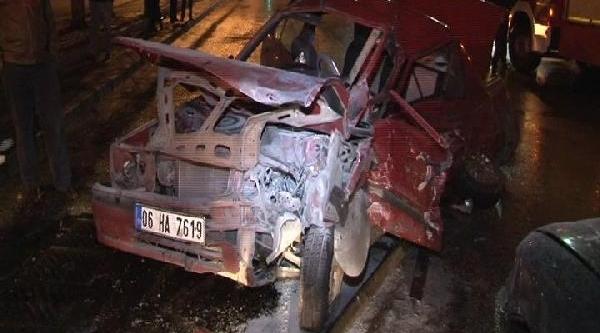 Ankara'da Kaza: 2 Yarali