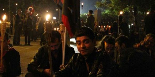 Ankara'da Meşaleli Yürüyüş