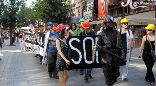 Ankara'da 'soma Faciası Unutturulmasın' Eylemi