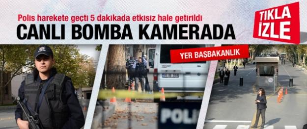 Ankara'daki bomba paniği kamerada!
