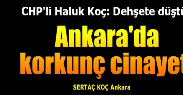 Ankara'yı dehşete düşüren cinayet